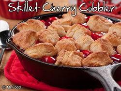 Skillet Cherry Cobbler