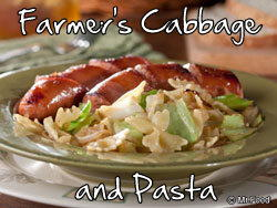 Farmer's Cabbage and Pasta